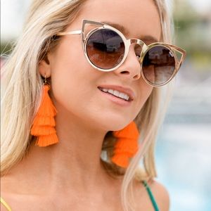 Accessories - Quay Australia Invader Gold Sunglasses